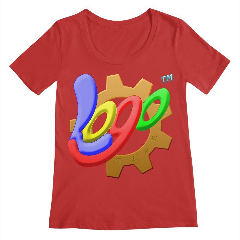 Logo Gear TM - for Your Wear & Gear Women's Regular Scoop Neck by Logo Gear & Logo Wear
