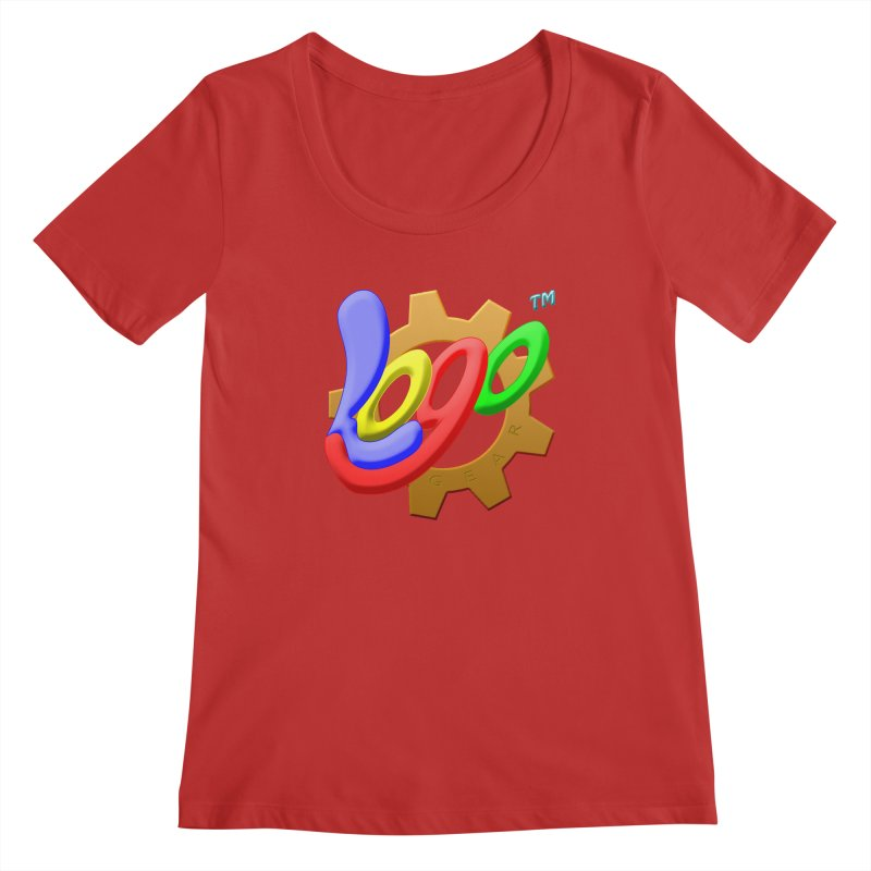 Logo Gear TM - for Your Wear & Gear Women's Regular Scoop Neck by Logo Gear & Logo Wear