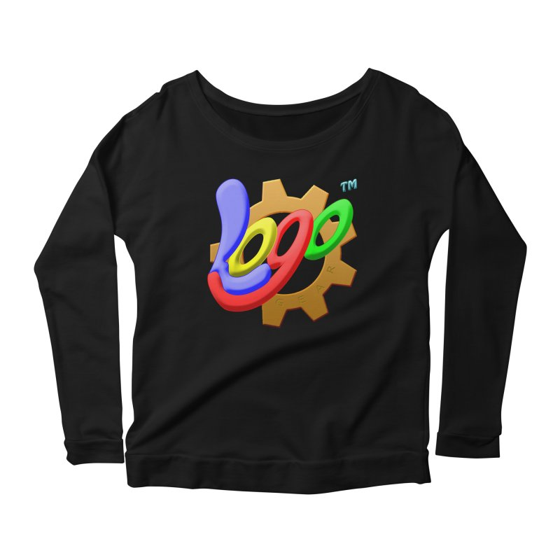 Logo Gear TM - for Your Wear & Gear Women's Scoop Neck Longsleeve T-Shirt by Logo Gear & Logo Wear