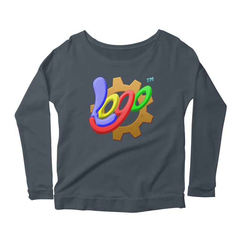 Logo Gear TM - for Your Wear & Gear Women's Scoop Neck Longsleeve T-Shirt by Logo Gear & Logo Wear