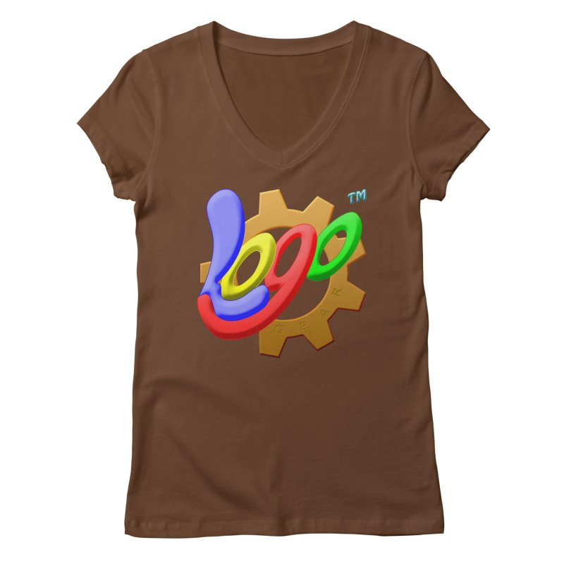 Logo Gear TM - for Your Wear & Gear Women's Regular V-Neck by Logo Gear & Logo Wear