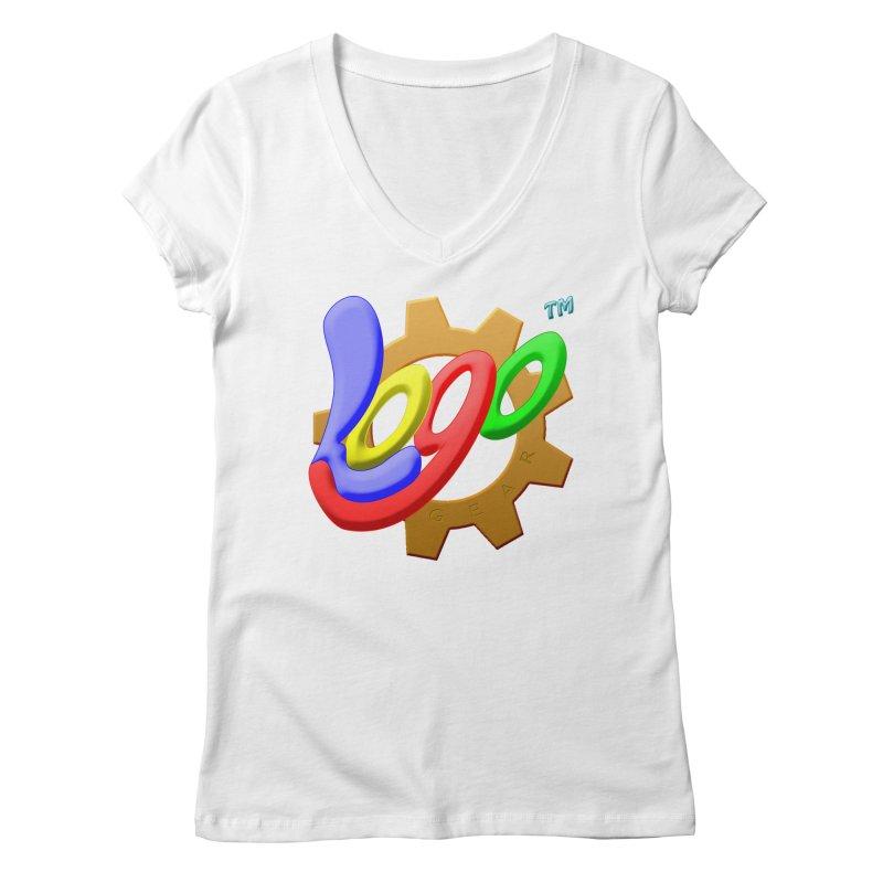 Logo Gear TM - for Your Wear & Gear Women's Regular V-Neck by Logo Gear & Logo Wear