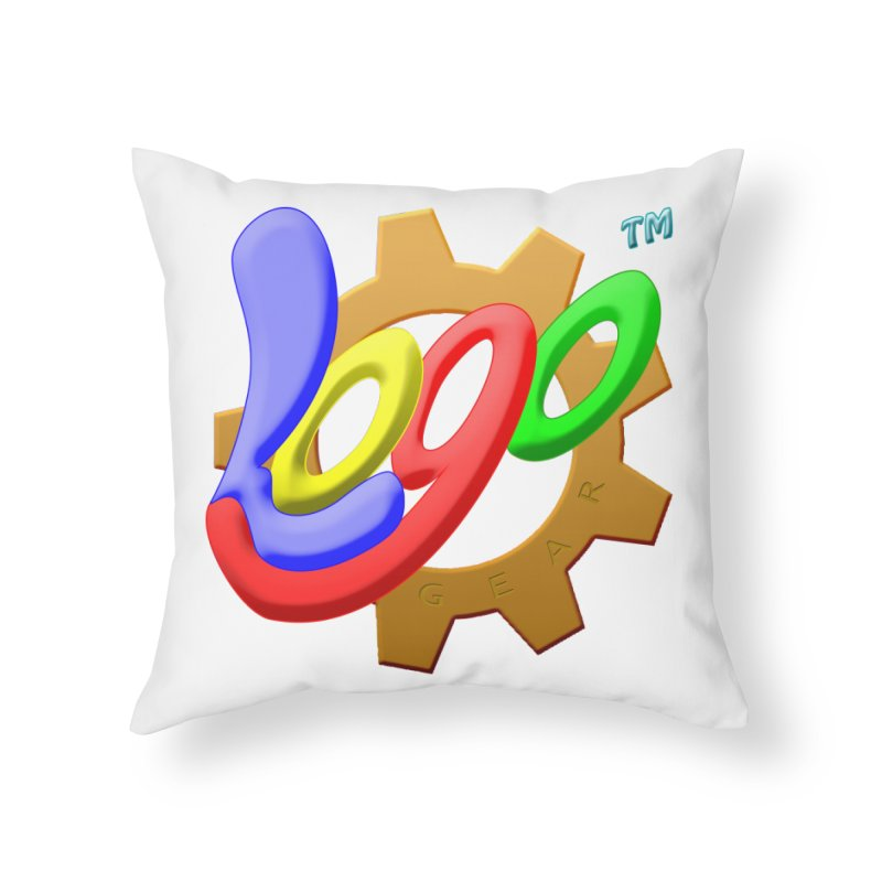 Logo Gear TM - for Your Wear & Gear Home Throw Pillow by Logo Gear & Logo Wear