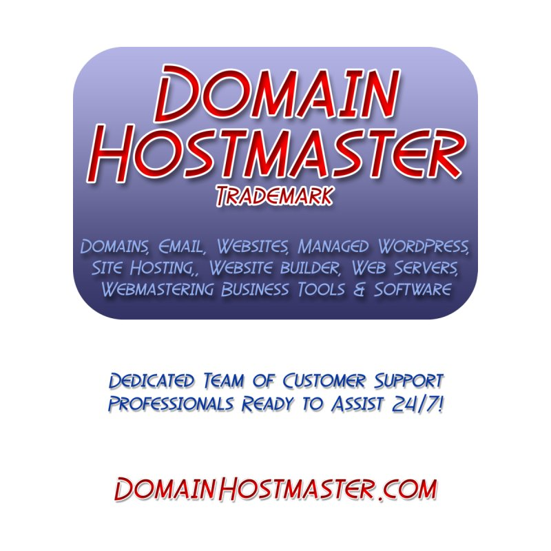 Domain Hostmaster by Logo Gear & Logo Wear