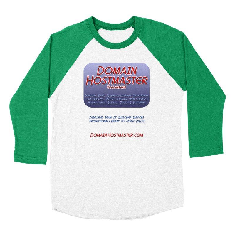 Domain Hostmaster Men's Baseball Triblend Longsleeve T-Shirt by Logo Gear & Logo Wear