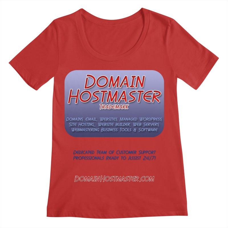 Domain Hostmaster Women's Regular Scoop Neck by Logo Gear & Logo Wear