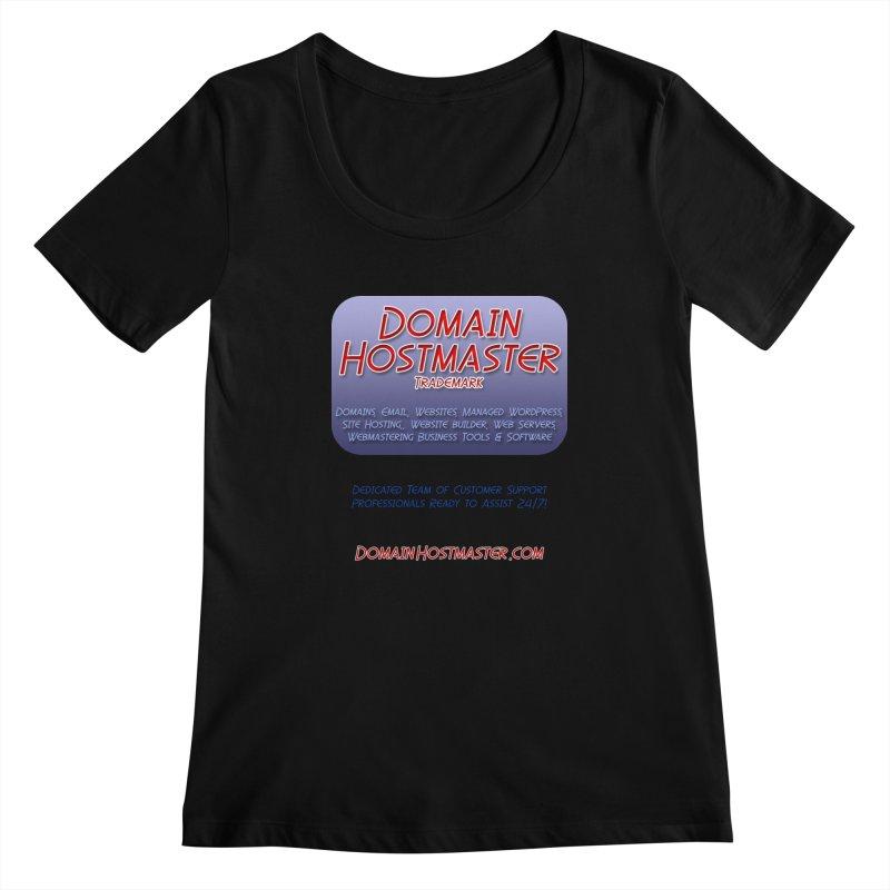 Domain Hostmaster Women's Scoopneck by Logo Gear & Logo Wear