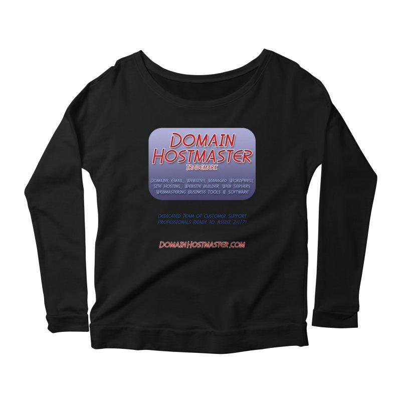 Domain Hostmaster Women's Scoop Neck Longsleeve T-Shirt by Logo Gear & Logo Wear