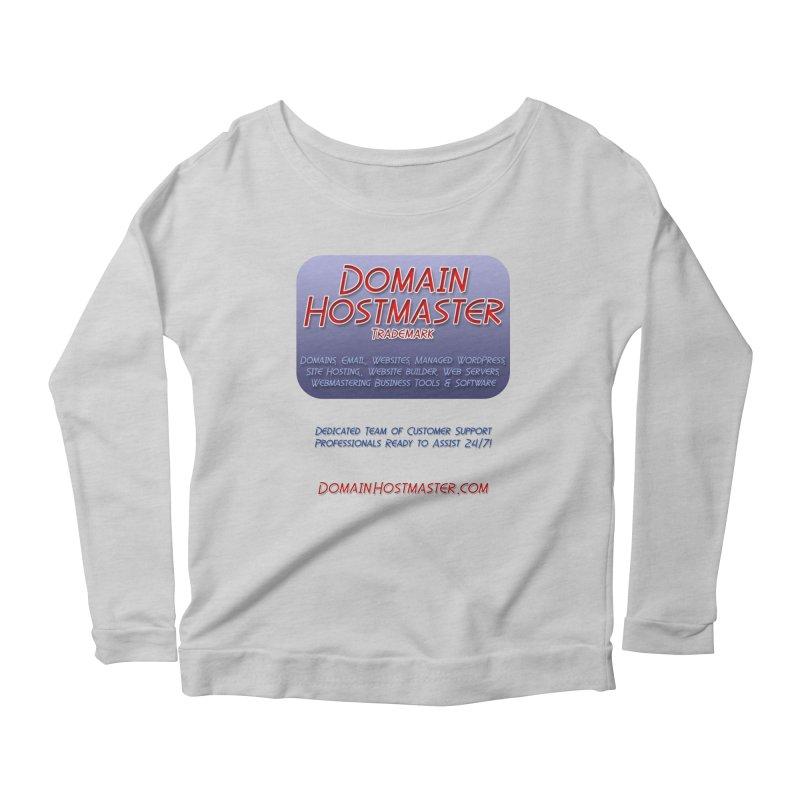 Domain Hostmaster Women's Longsleeve Scoopneck  by Logo Gear & Logo Wear