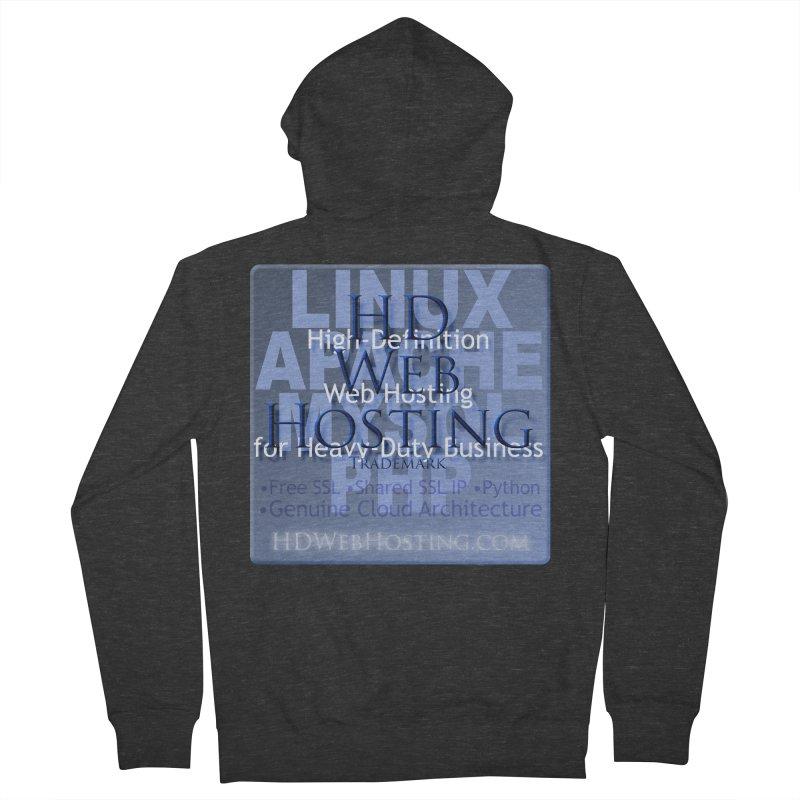 HD Web Hosting Men's French Terry Zip-Up Hoody by Logo Gear & Logo Wear
