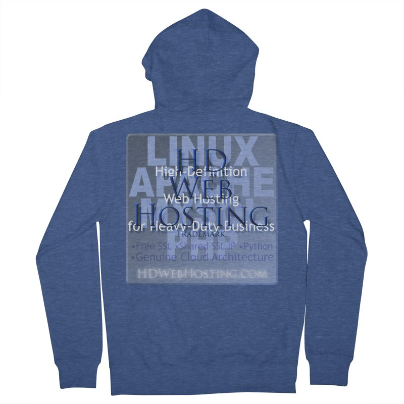 HD Web Hosting Men's French Terry Zip-Up Hoody by Logo Gear & Logo Wear