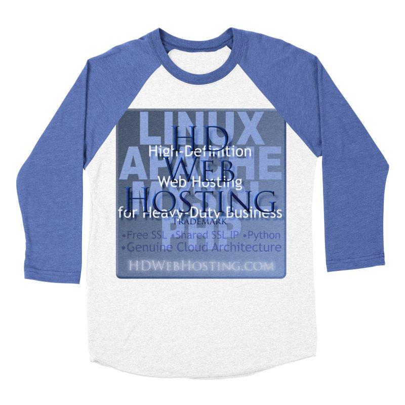 HD Web Hosting Men's Baseball Triblend Longsleeve T-Shirt by Logo Gear & Logo Wear