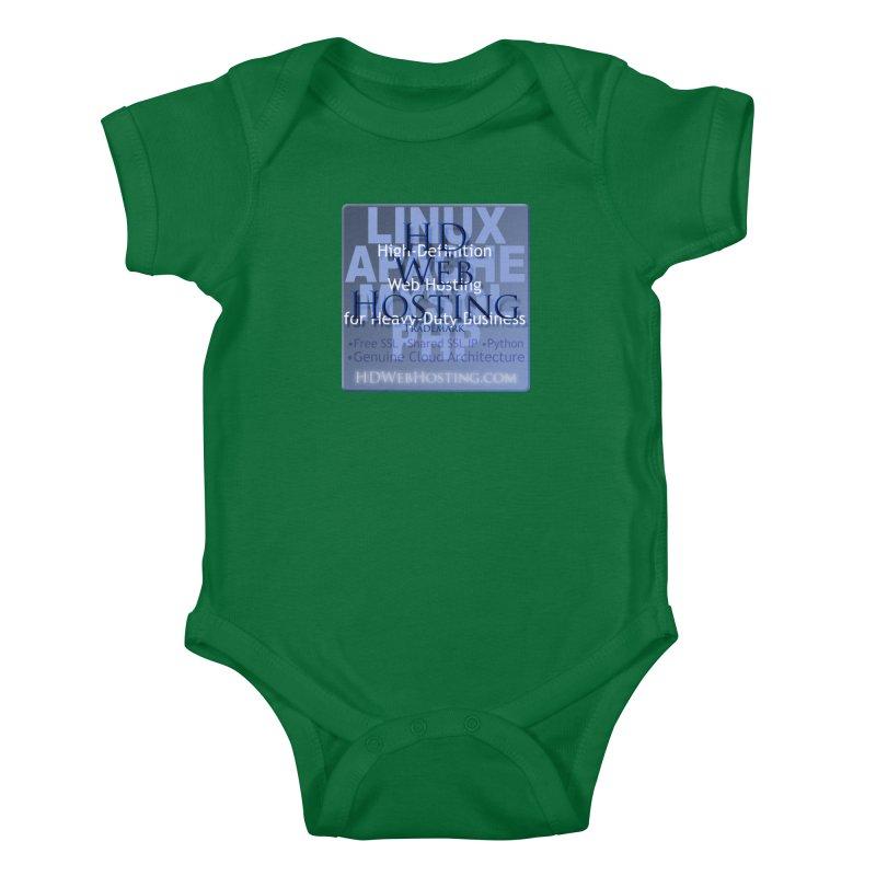 HD Web Hosting Kids Baby Bodysuit by Logo Gear & Logo Wear