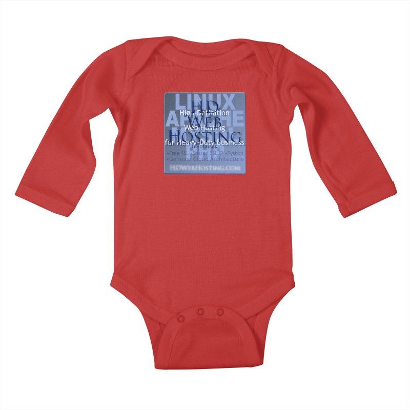 HD Web Hosting Kids Baby Longsleeve Bodysuit by Logo Gear & Logo Wear