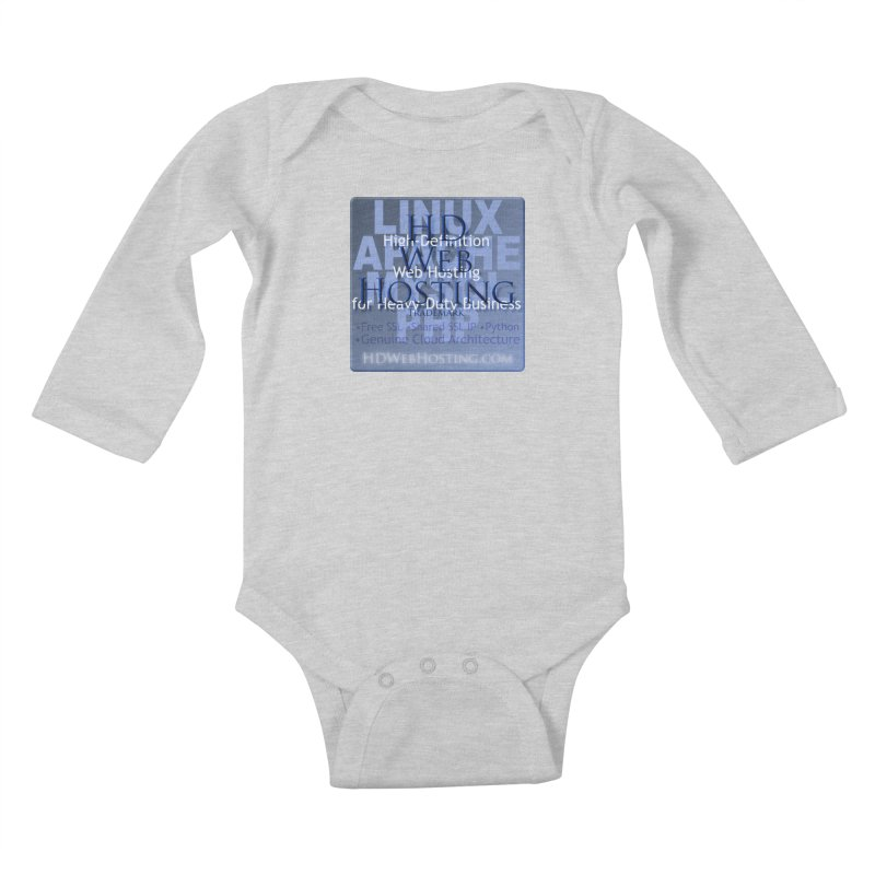 HD Web Hosting Kids Baby Longsleeve Bodysuit by Logo Gear & Logo Wear