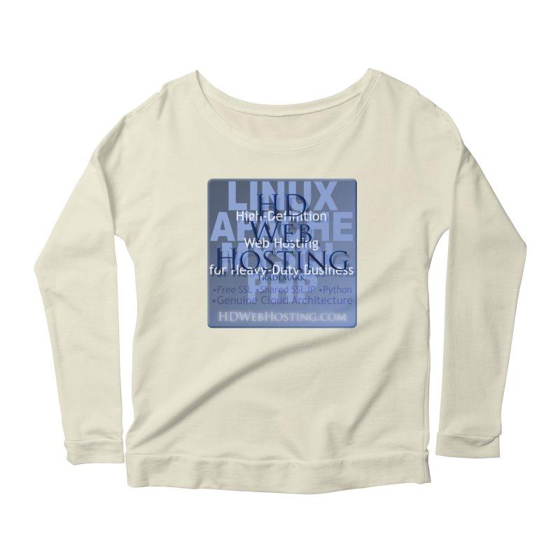 HD Web Hosting Women's Scoop Neck Longsleeve T-Shirt by Logo Gear & Logo Wear