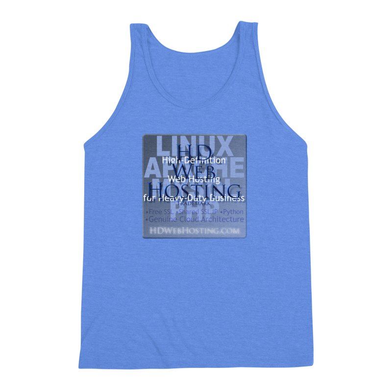 HD Web Hosting Men's Triblend Tank by Logo Gear & Logo Wear