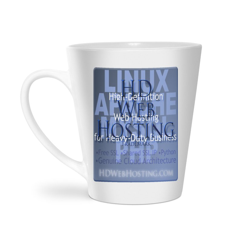 HD Web Hosting Accessories Latte Mug by Logo Gear & Logo Wear