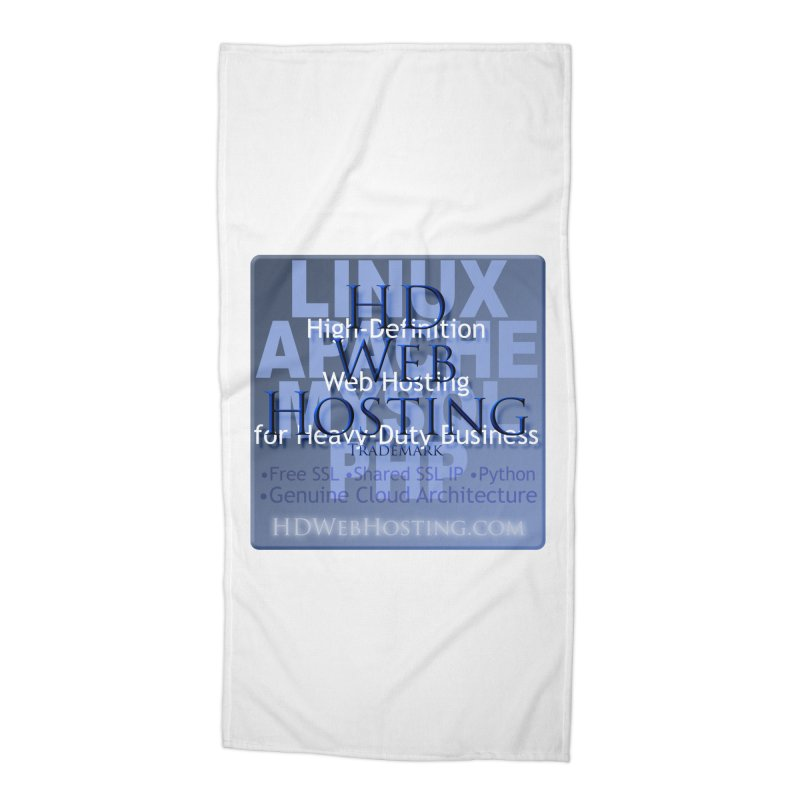 HD Web Hosting Accessories Beach Towel by Logo Gear & Logo Wear