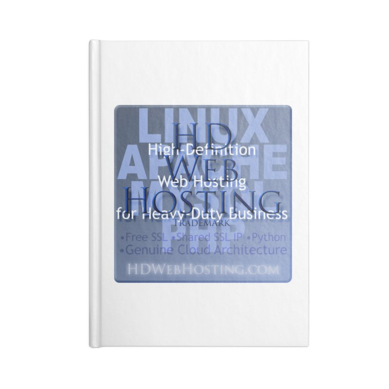 HD Web Hosting Accessories Lined Journal Notebook by Logo Gear & Logo Wear