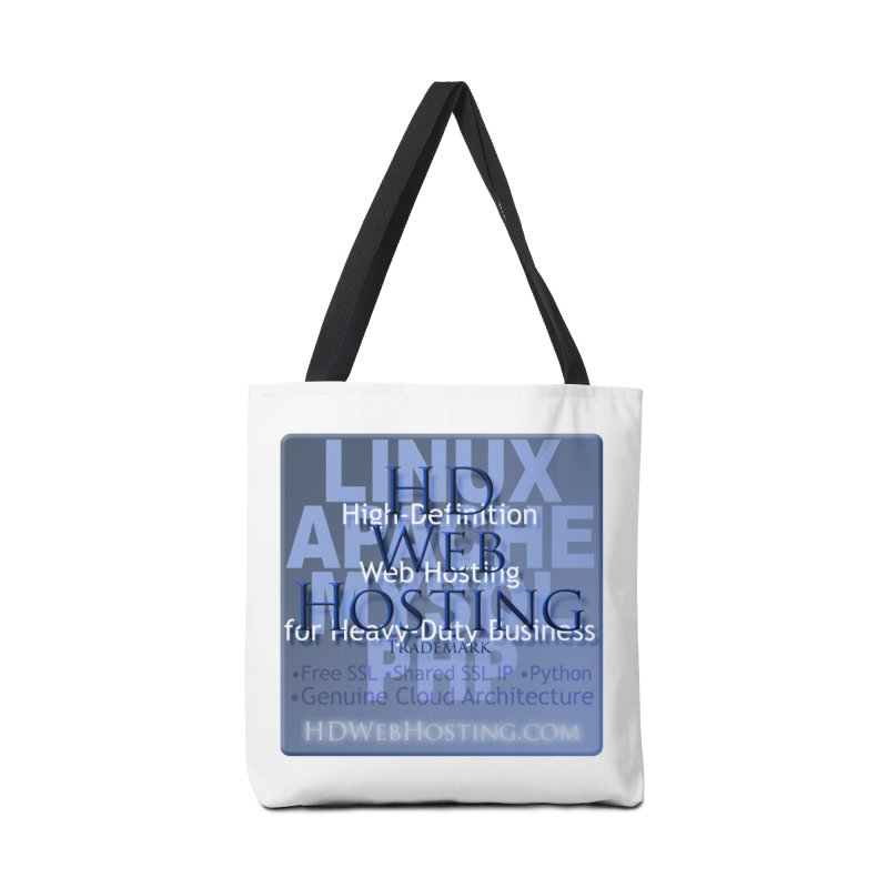 HD Web Hosting Accessories Tote Bag Bag by Logo Gear & Logo Wear