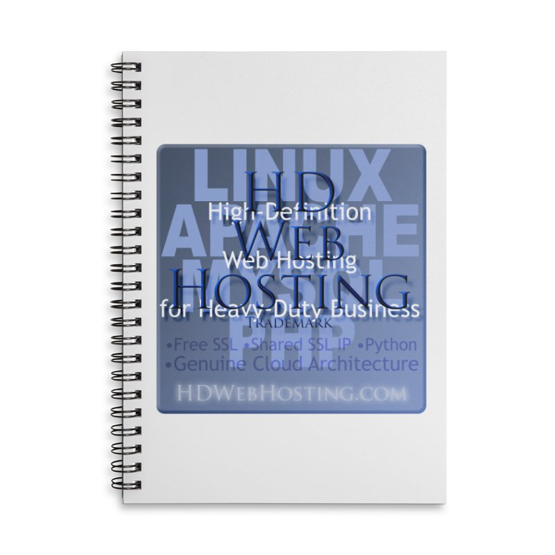 HD Web Hosting Accessories Lined Spiral Notebook by Logo Gear & Logo Wear