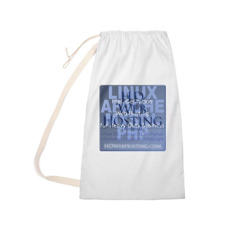 HD Web Hosting Accessories Laundry Bag Bag by Logo Gear & Logo Wear