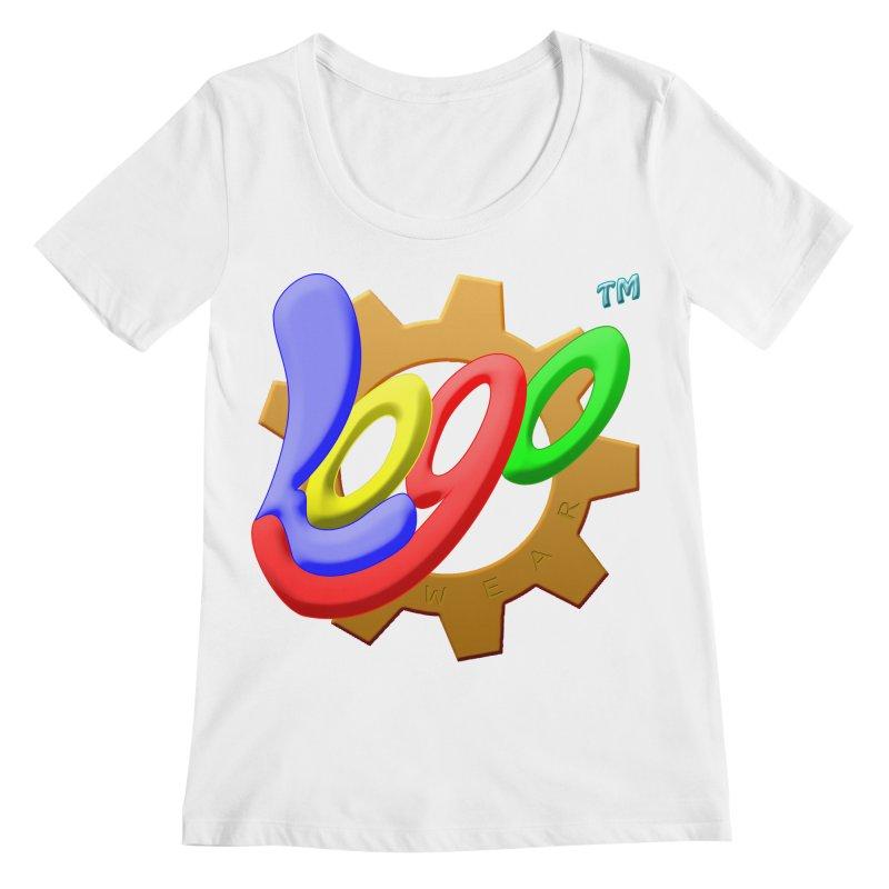 Logo Wear TM - for Wear & Gear Women's Regular Scoop Neck by Logo Gear & Logo Wear