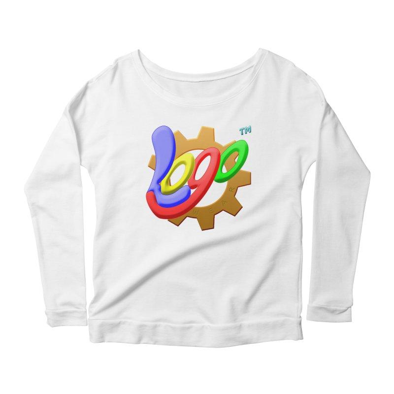 Logo Wear TM - for Wear & Gear Women's Scoop Neck Longsleeve T-Shirt by Logo Gear & Logo Wear