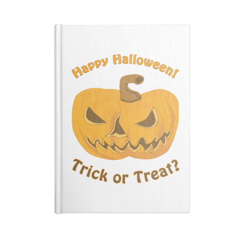 Happy Halloween Pumpkin Accessories Lined Journal Notebook by Logo Gear & Logo Wear