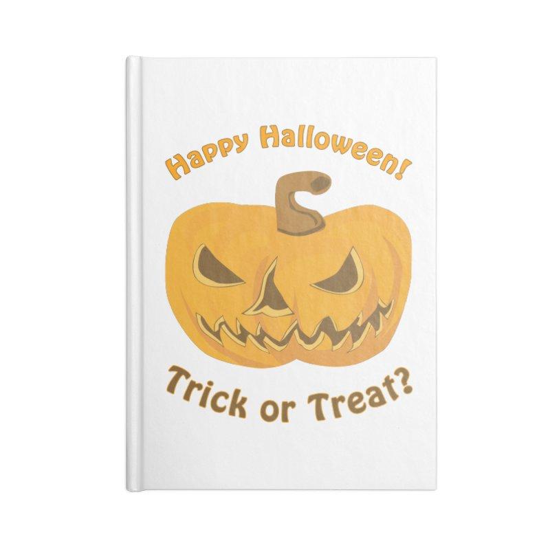 Happy Halloween Pumpkin Accessories Blank Journal Notebook by Logo Gear & Logo Wear