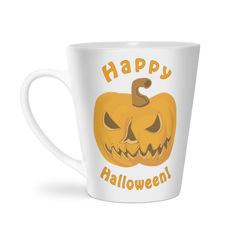 Happy Halloween Pumpkin Accessories Latte Mug by Logo Gear & Logo Wear