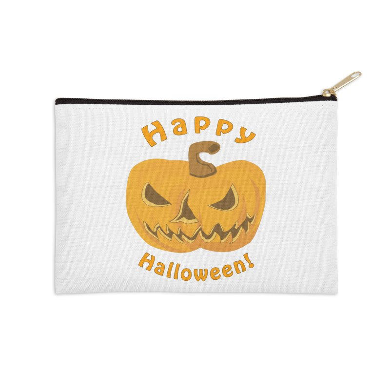 Happy Halloween Pumpkin Accessories Zip Pouch by Logo Gear & Logo Wear