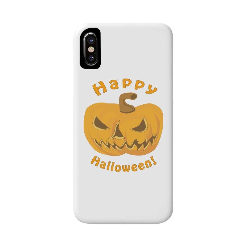 Happy Halloween Pumpkin Accessories Beach Towel by Logo Gear & Logo Wear