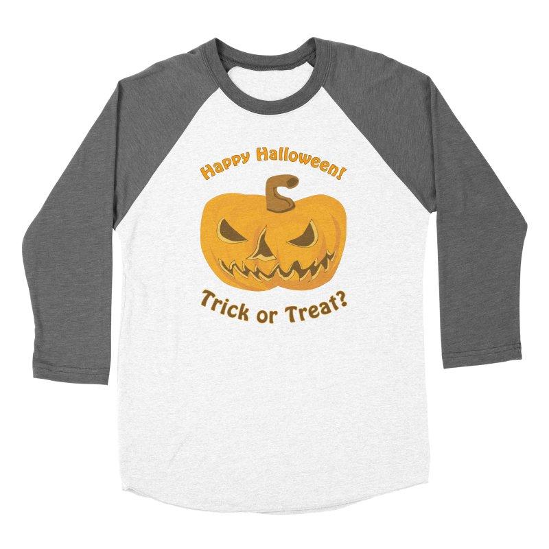 Happy Halloween Pumpkin Men's Baseball Triblend Longsleeve T-Shirt by Logo Gear & Logo Wear
