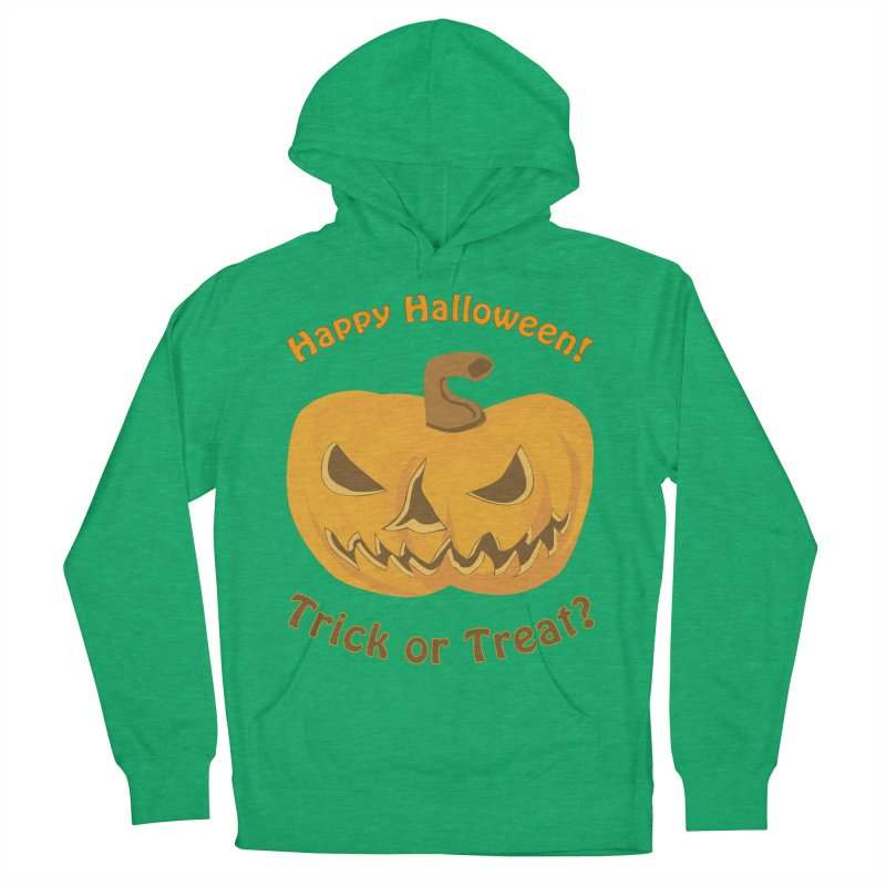 Happy Halloween Pumpkin Women's French Terry Pullover Hoody by Logo Gear & Logo Wear
