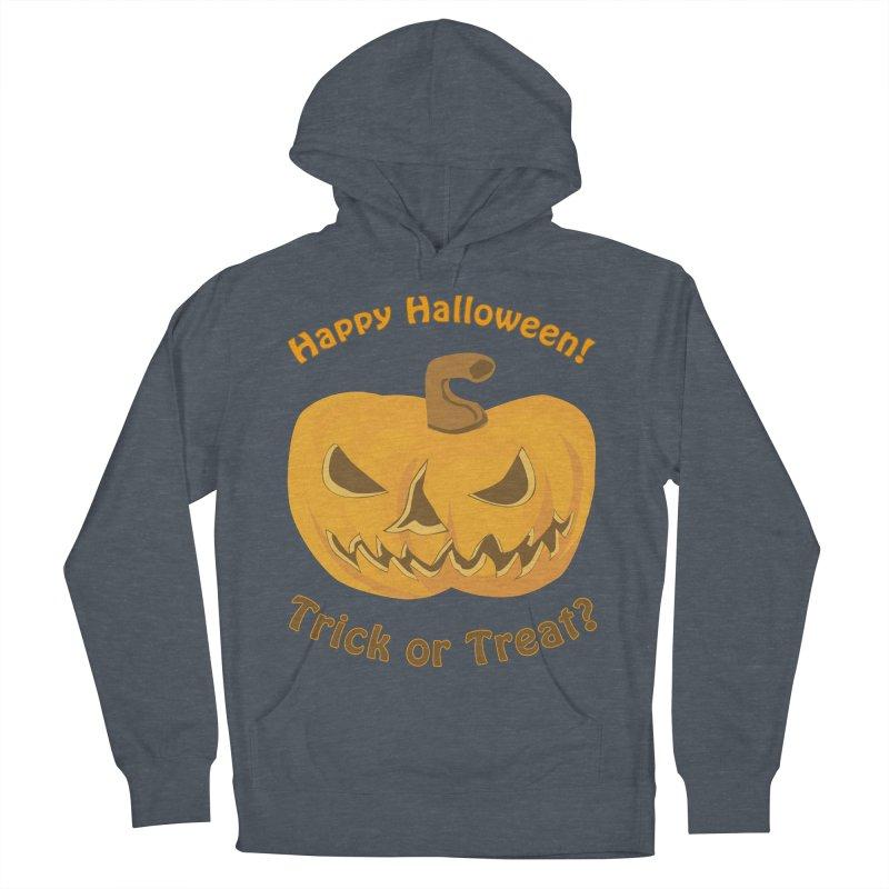 Happy Halloween Pumpkin Women's French Terry Pullover Hoody by Logo Gear & Logo Wear