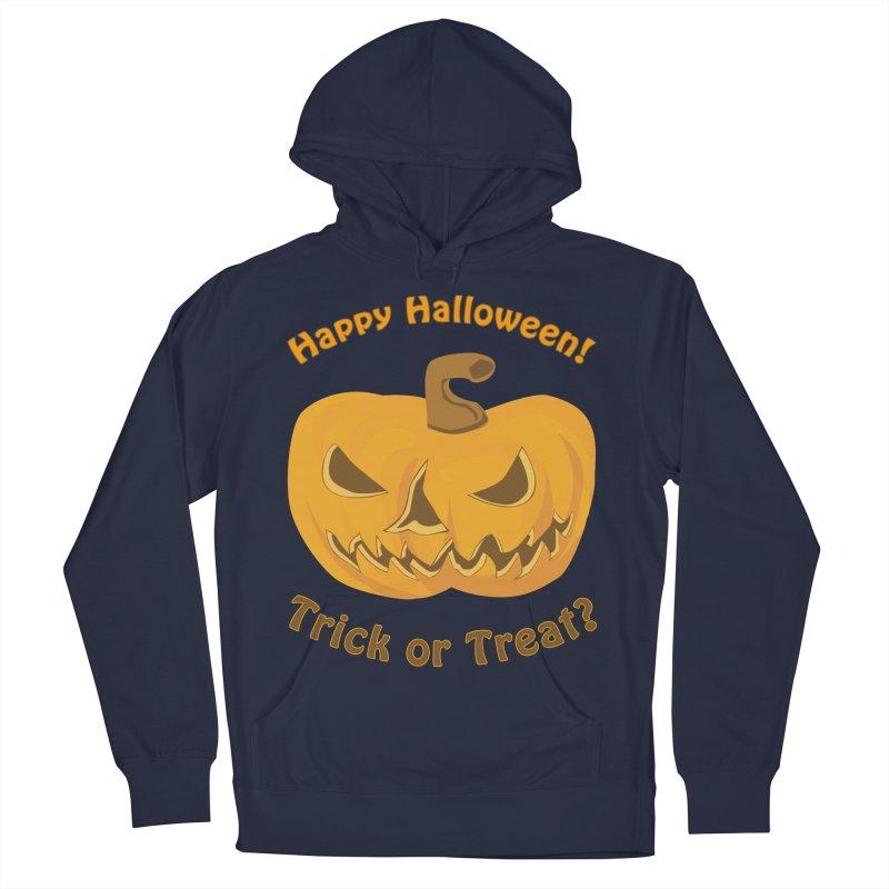 Happy Halloween Pumpkin Men's French Terry Pullover Hoody by Logo Gear & Logo Wear