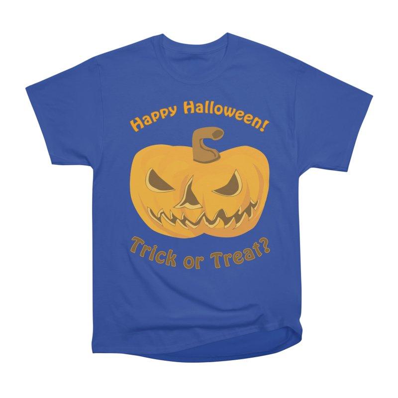 Happy Halloween Pumpkin Men's Heavyweight T-Shirt by Logo Gear & Logo Wear