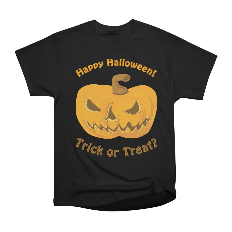 Happy Halloween Pumpkin Women's Heavyweight Unisex T-Shirt by Logo Gear & Logo Wear
