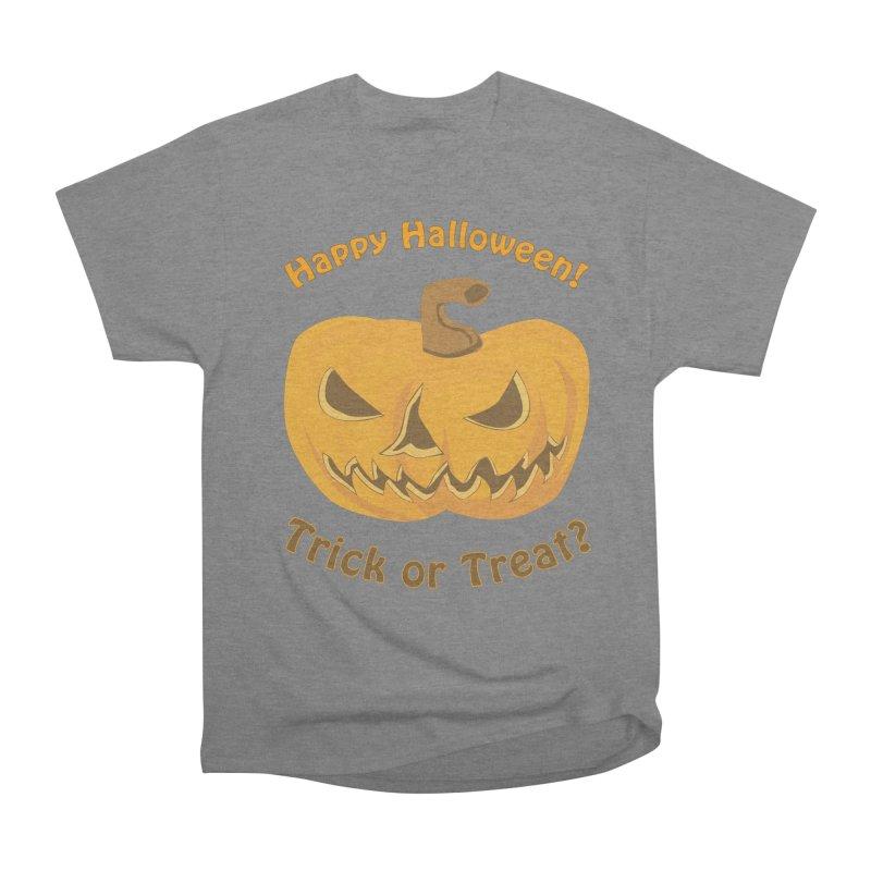 Happy Halloween Pumpkin Women's Heavyweight Unisex T-Shirt by Logo Gear & Logo Wear