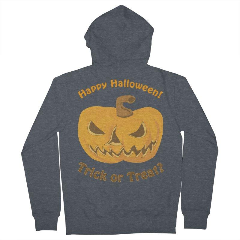 Happy Halloween Pumpkin Women's French Terry Zip-Up Hoody by Logo Gear & Logo Wear