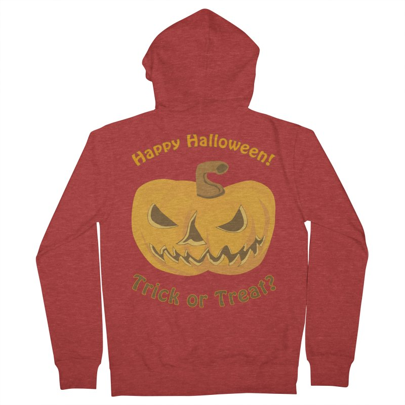 Happy Halloween Pumpkin Men's French Terry Zip-Up Hoody by Logo Gear & Logo Wear