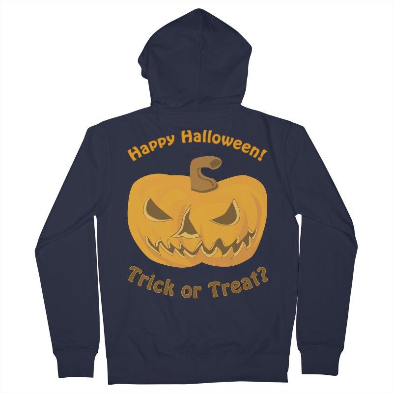 Happy Halloween Pumpkin Men's French Terry Zip-Up Hoody by Logo Gear & Logo Wear