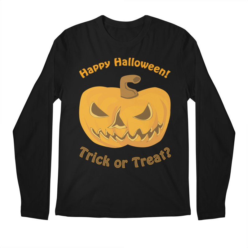 Happy Halloween Pumpkin Men's Regular Longsleeve T-Shirt by Logo Gear & Logo Wear