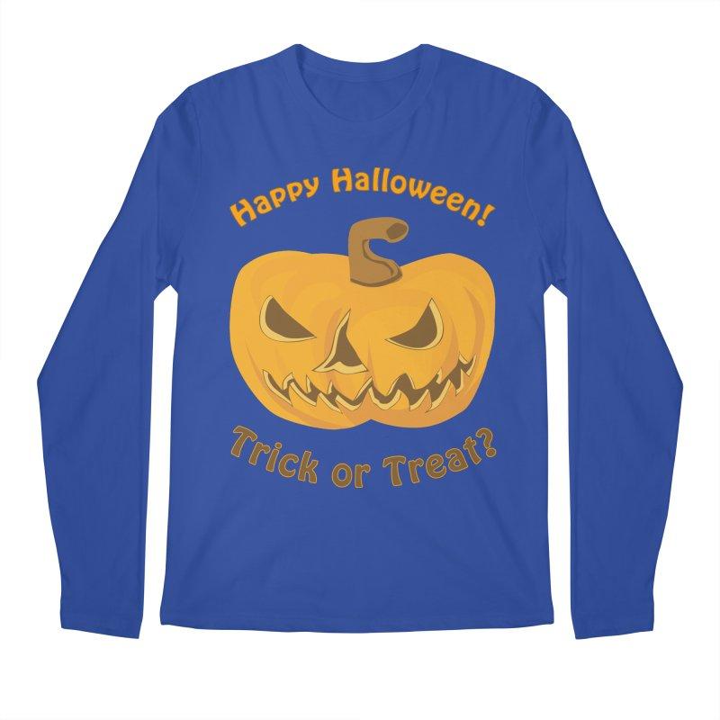 Happy Halloween Pumpkin Men's Regular Longsleeve T-Shirt by Logo Gear & Logo Wear