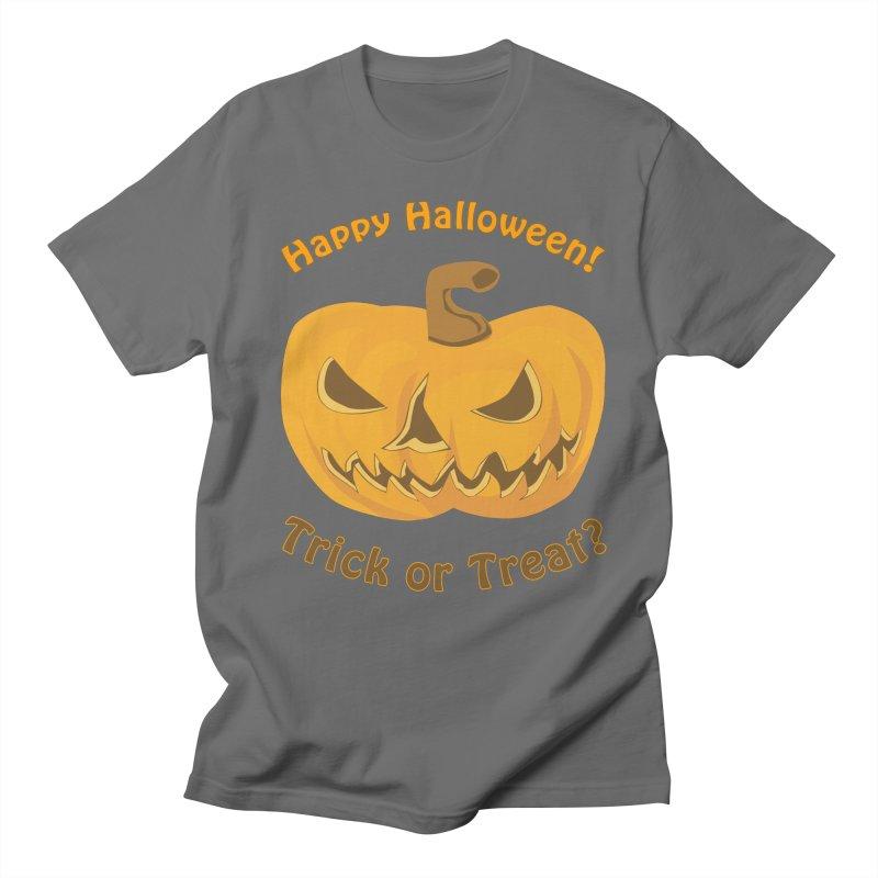 Happy Halloween Pumpkin Men's T-Shirt by Logo Gear & Logo Wear