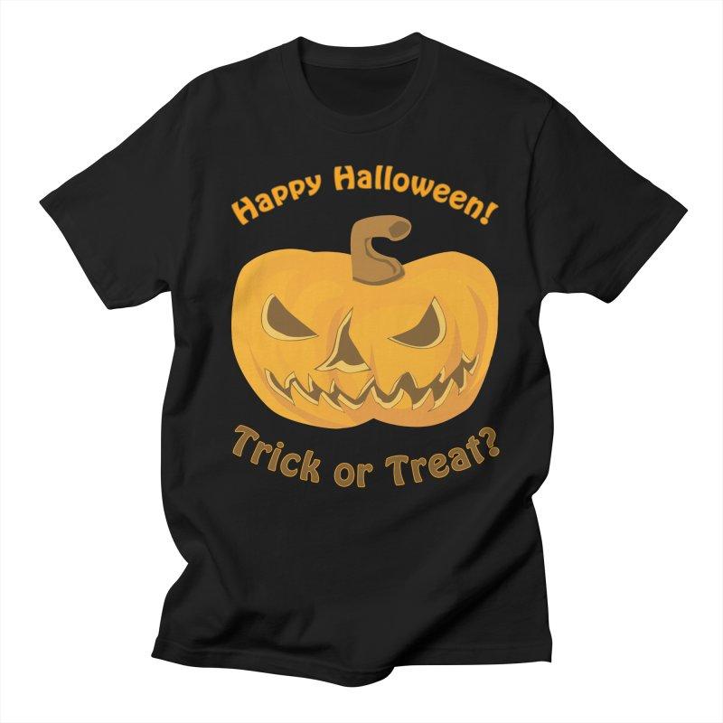 Happy Halloween Pumpkin Women's Unisex T-Shirt by Logo Gear & Logo Wear
