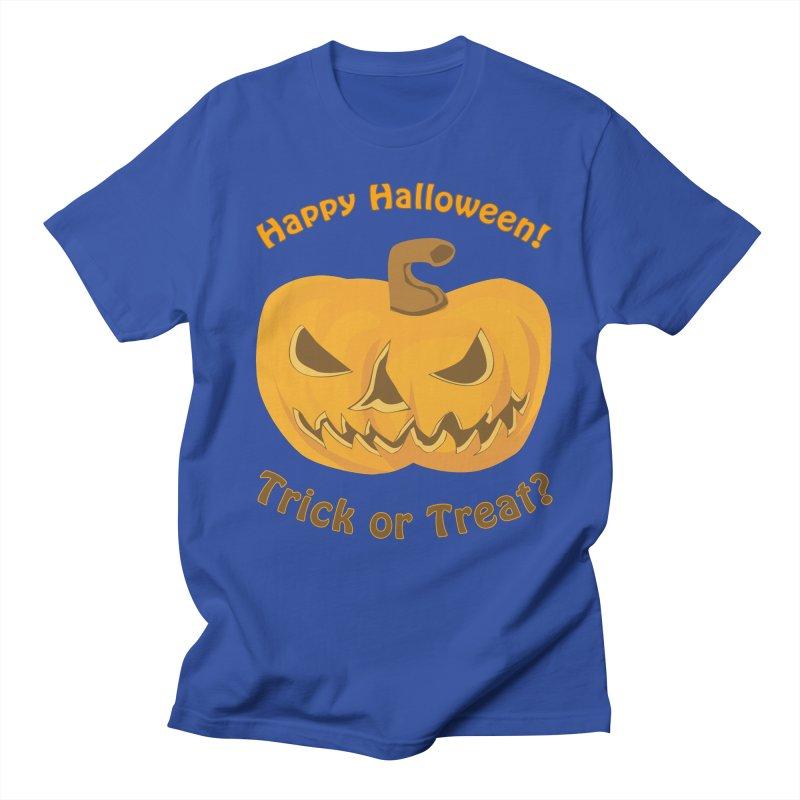 Happy Halloween Pumpkin Women's Regular Unisex T-Shirt by Logo Gear & Logo Wear