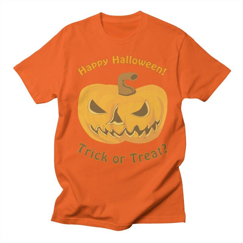 Happy Halloween Pumpkin Men's Regular T-Shirt by Logo Gear & Logo Wear